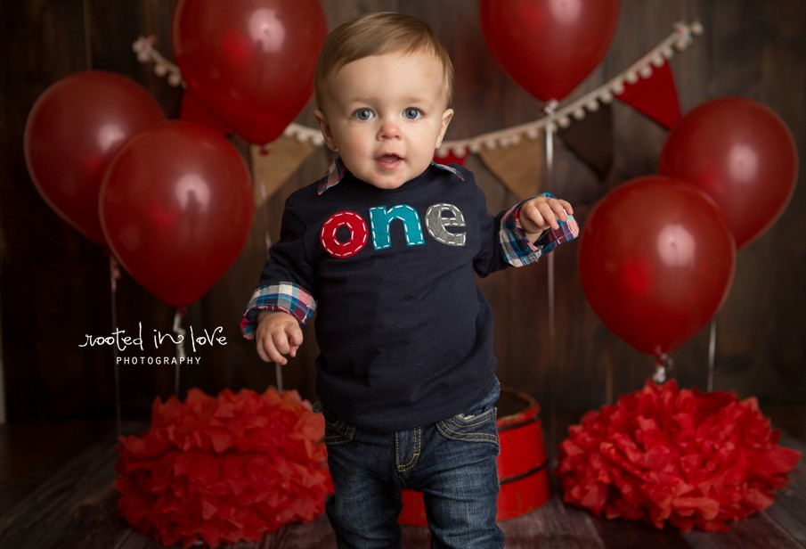 Aldon 1 year | Fort Worth cake smash session
