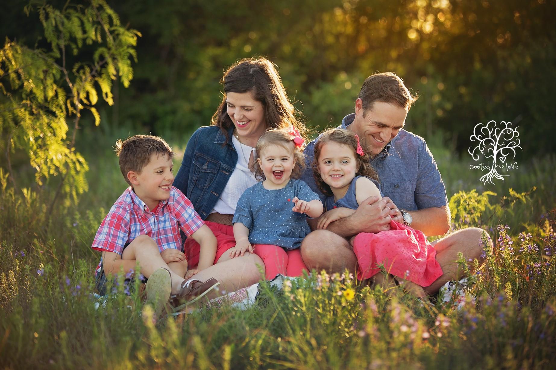 Bush family wildflower session