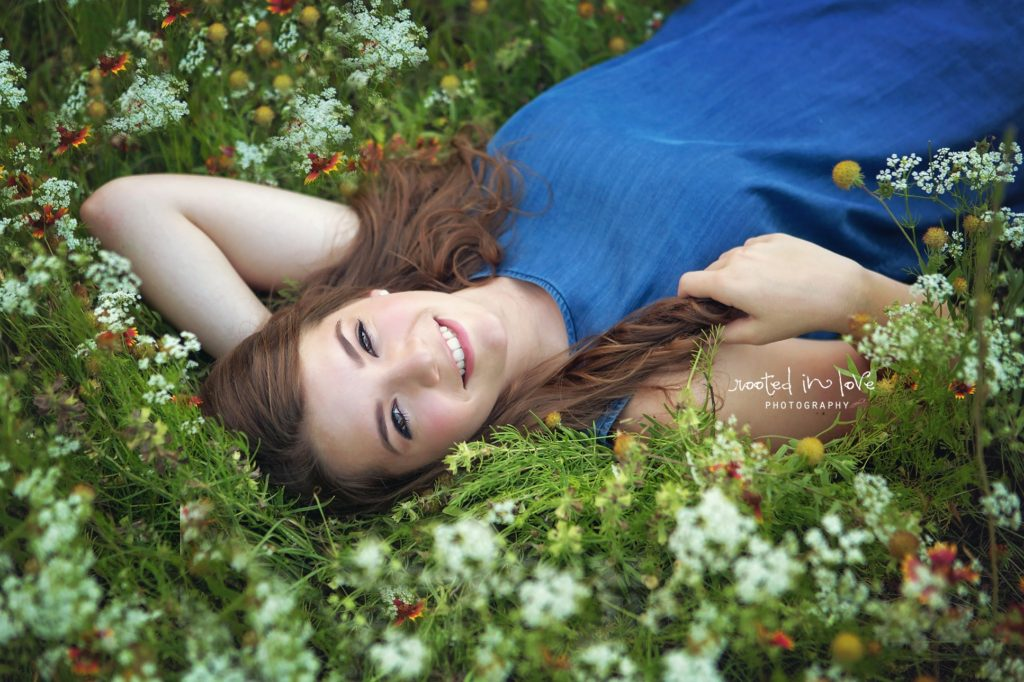 Shelby's wildflower senior session