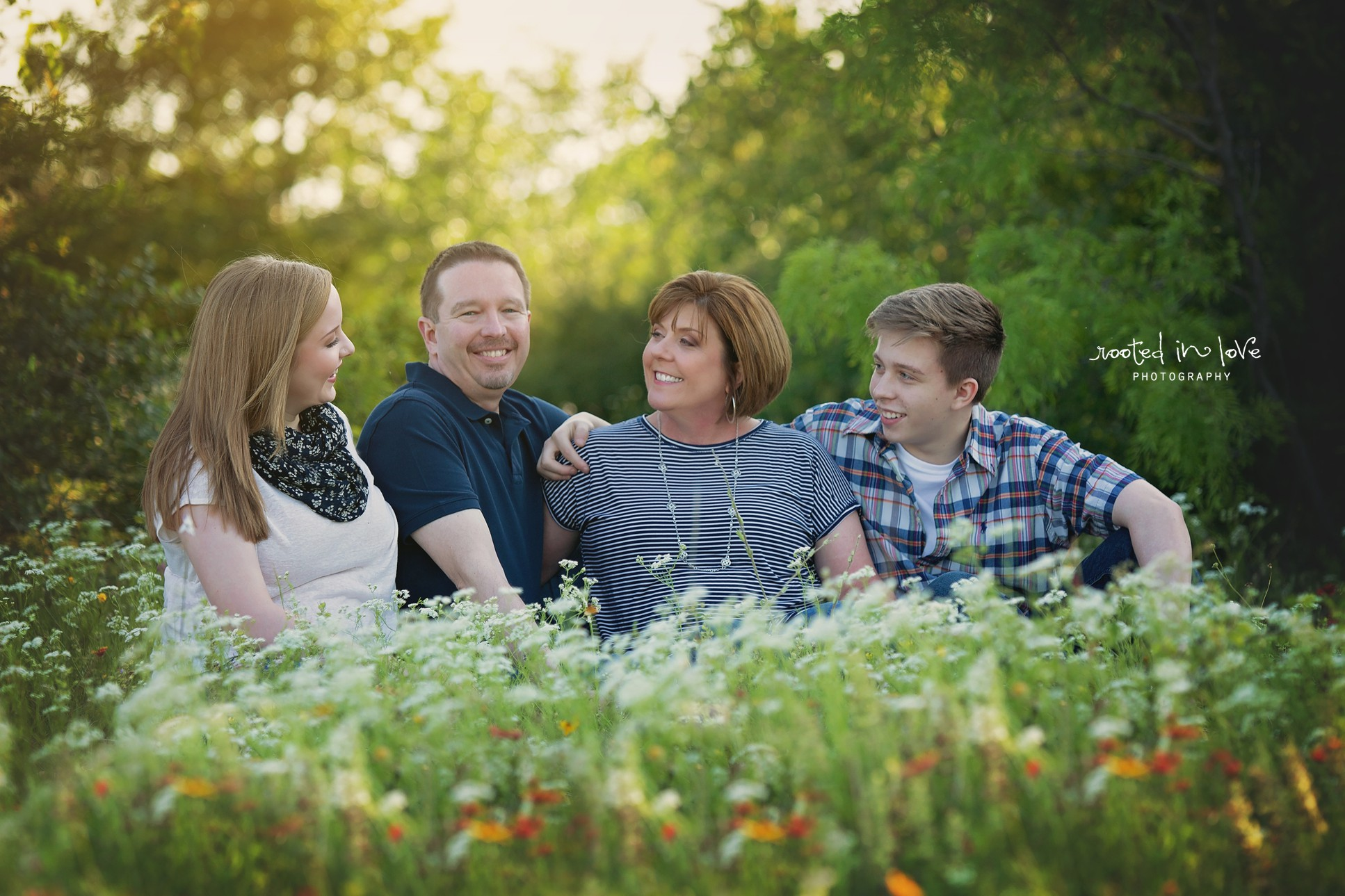 Perkins wildflower family session