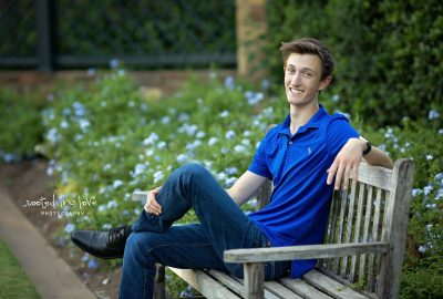 Robert's Fort Worth Botanical Gardens senior session