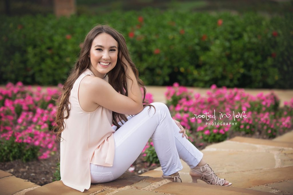 Fort Worth Botanical Gardens senior session